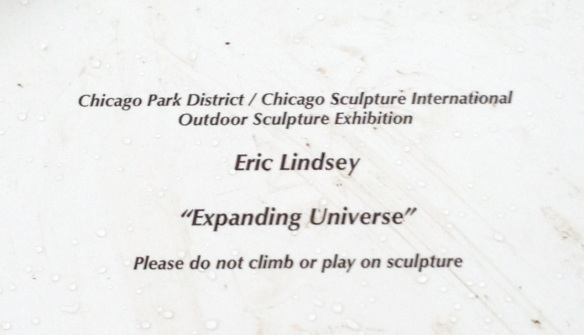 This is the nameplate for the sculpture.